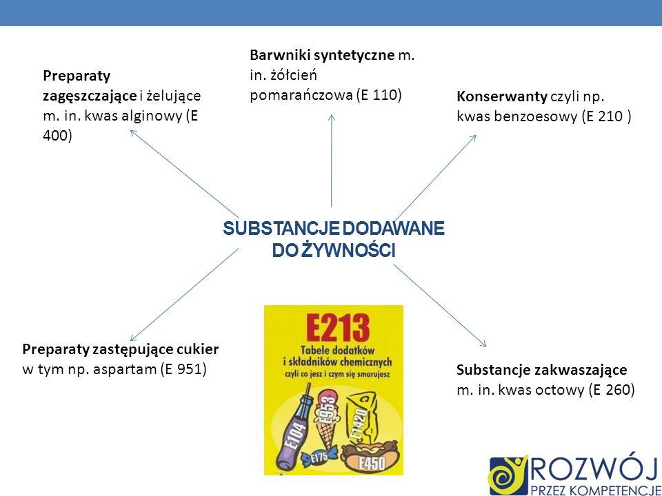 Substancje dodawane do żywności