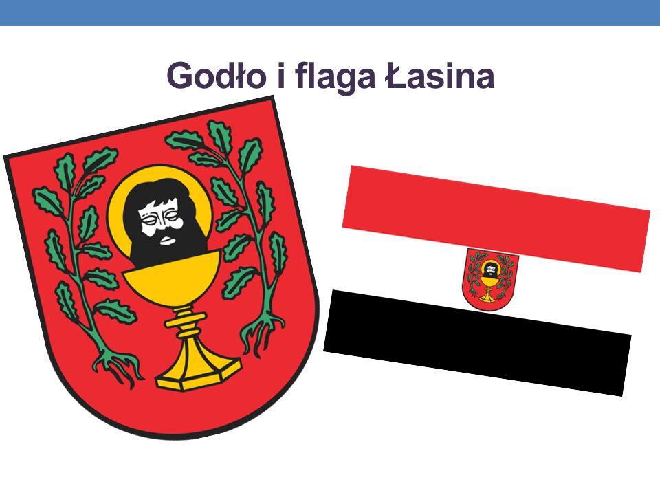 Godło i flaga Łasina