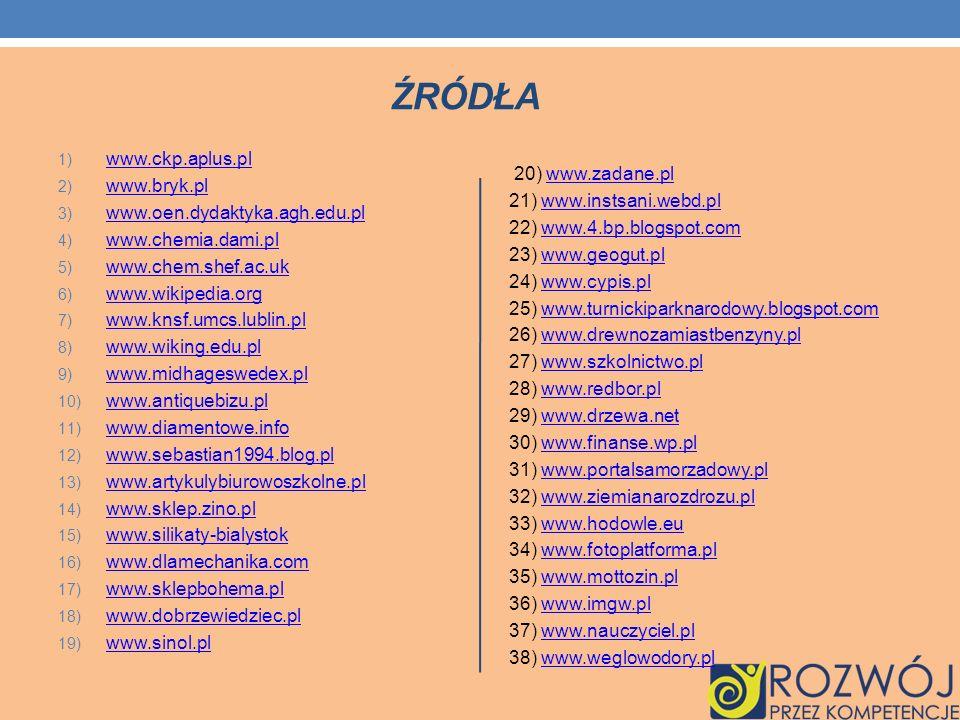 źródła www.ckp.aplus.pl www.bryk.pl
