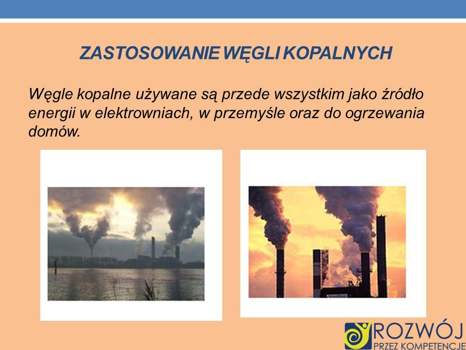 Zastosowanie węgli kopalnych