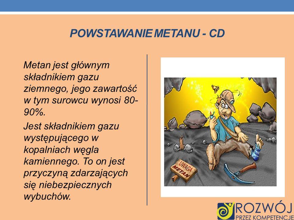Powstawanie metanu - cd