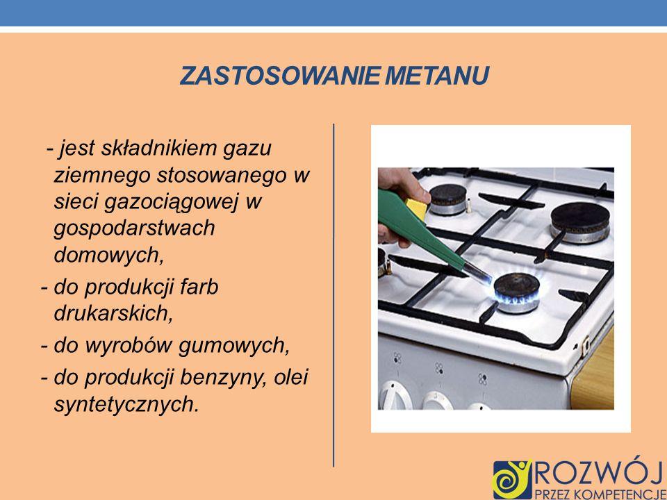 Zastosowanie metanu