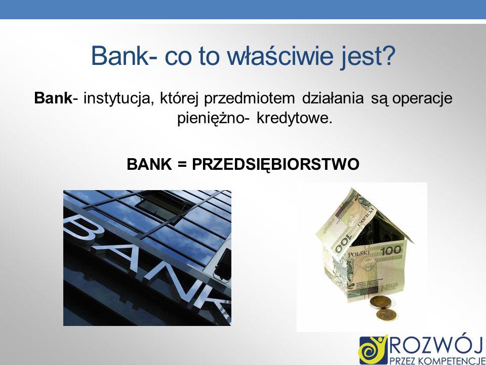 Bank- co to właściwie jest