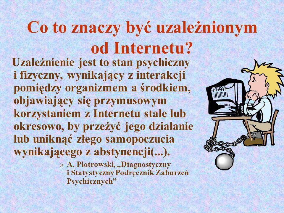 Co to znaczy być uzależnionym od Internetu