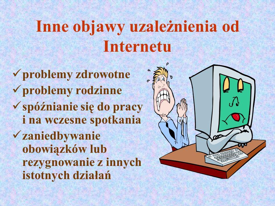Inne objawy uzależnienia od Internetu