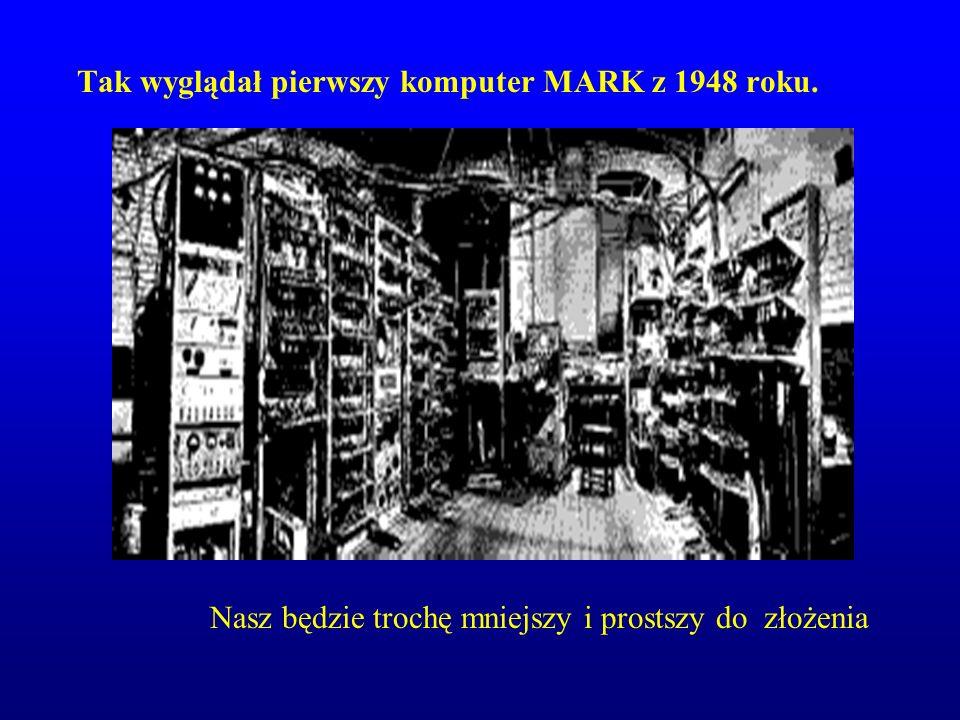 Tak wyglądał pierwszy komputer MARK z 1948 roku.