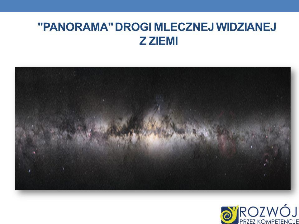 Panorama Drogi Mlecznej widzianej z Ziemi