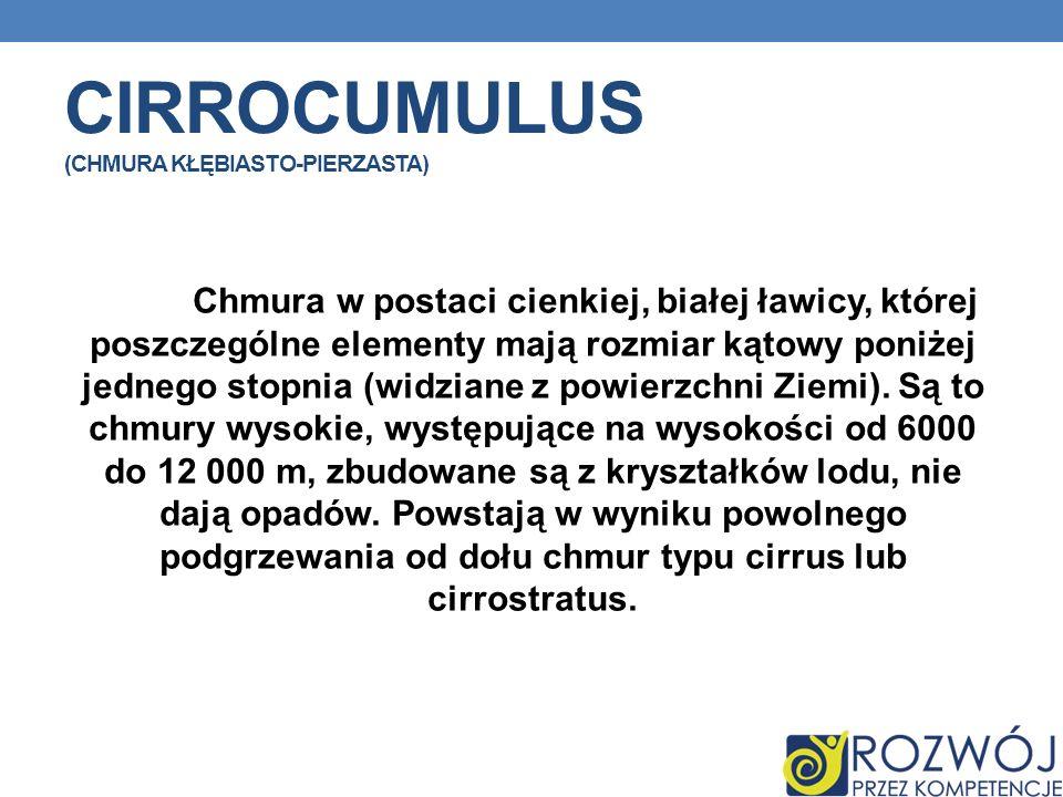 Cirrocumulus (chmura kłębiasto-pierzasta)