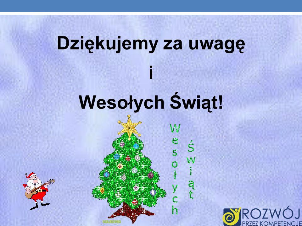 Dziękujemy za uwagę i Wesołych Świąt!