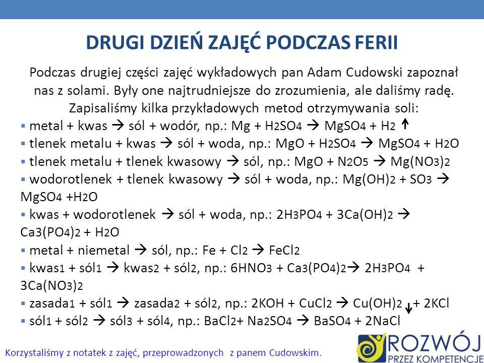 DRUGI DZIEŃ ZAJĘĆ PODCZAS FERII