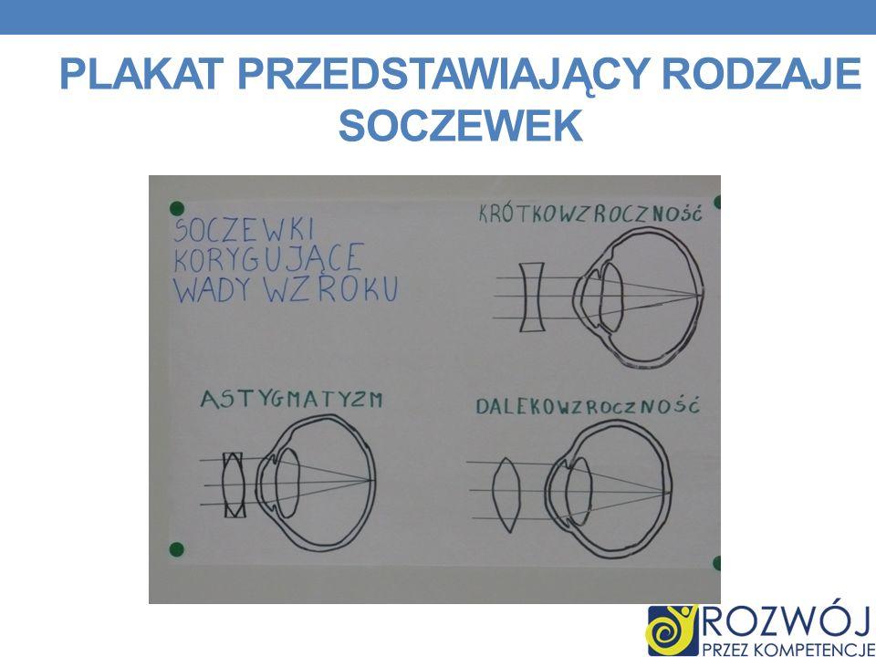Plakat przedstawiający rodzaje soczewek