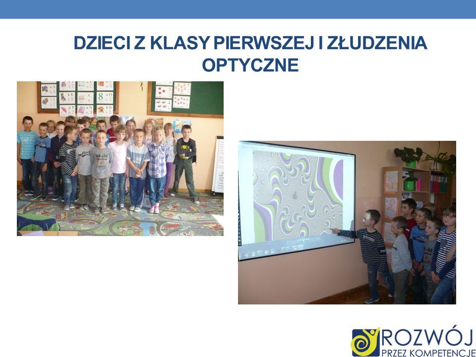 Dzieci z klasy pierwszej i złudzenia optyczne