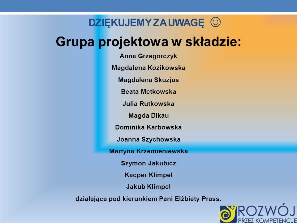 Grupa projektowa w składzie: