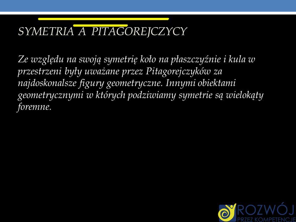SYMETRIA A PITAGOREJCZYCY