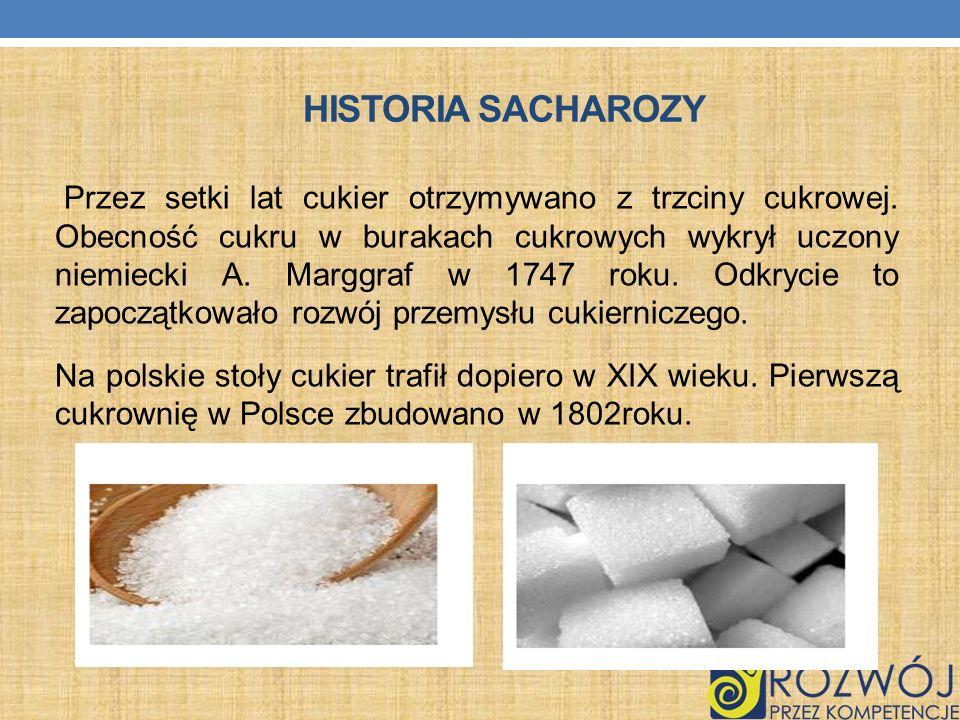 Historia sacharozy