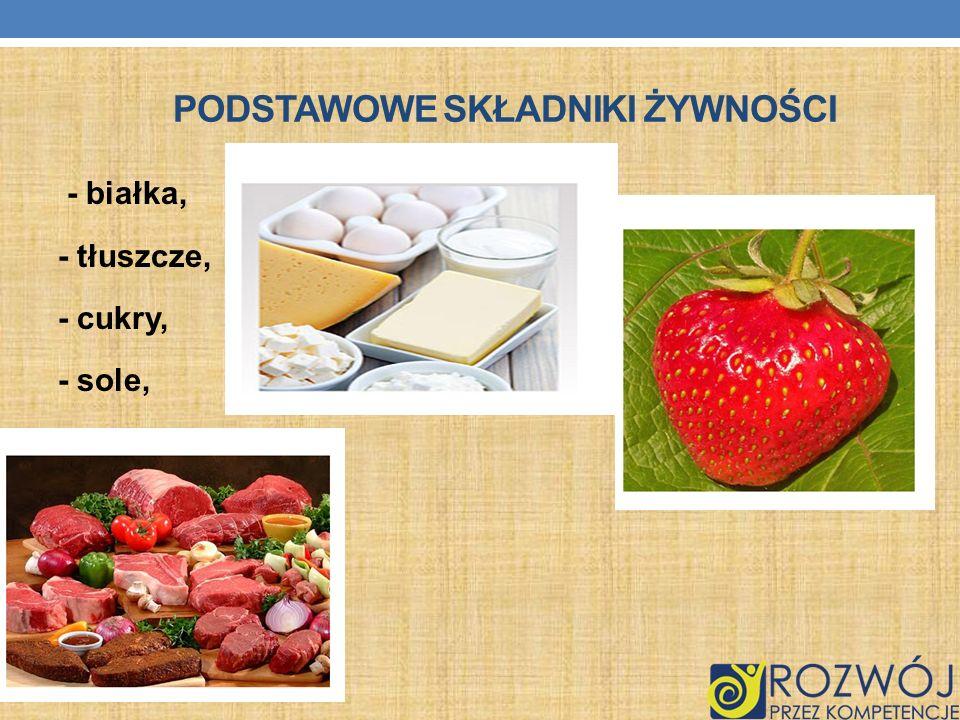 Podstawowe składniki żywności