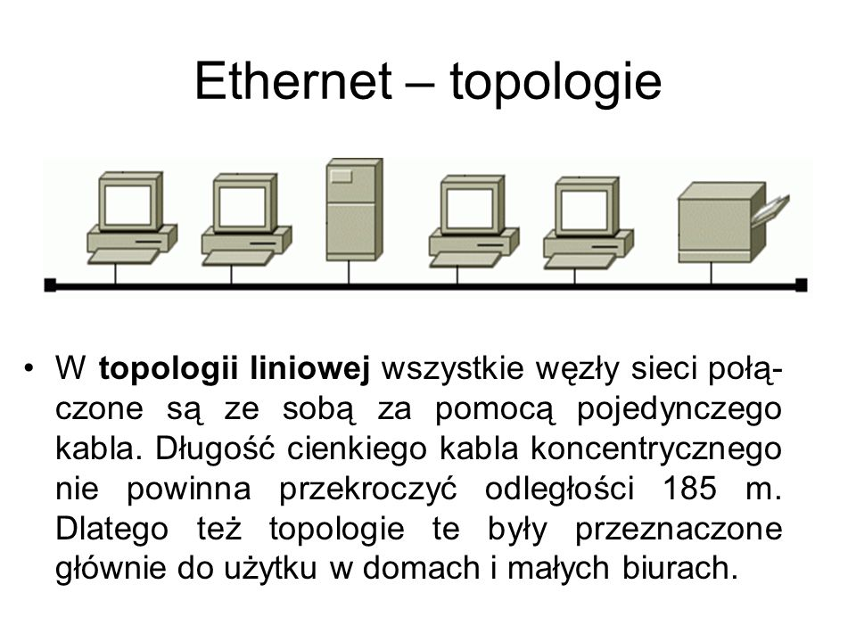 Ethernet – topologie