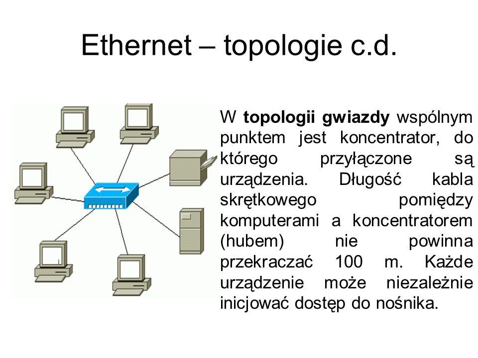 Ethernet – topologie c.d.