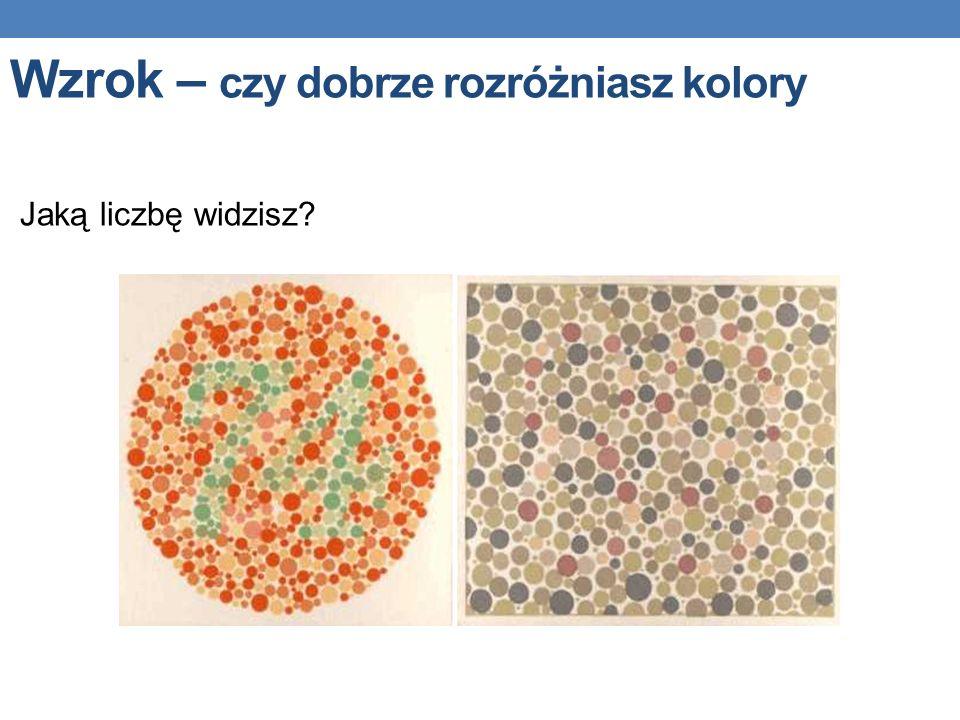 Wzrok – czy dobrze rozróżniasz kolory