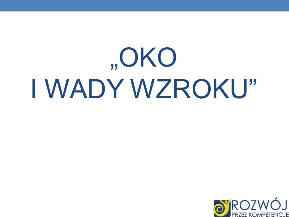 """OKO I WADY WZROKU"