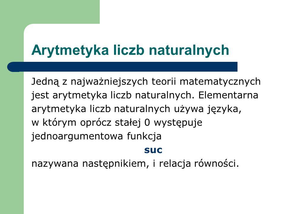 Arytmetyka liczb naturalnych