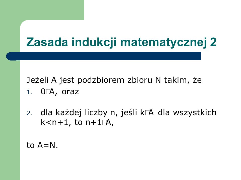 Zasada indukcji matematycznej 2