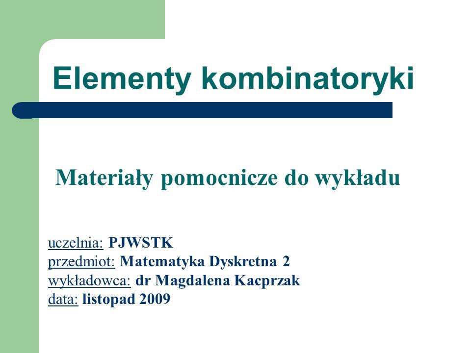 Elementy kombinatoryki
