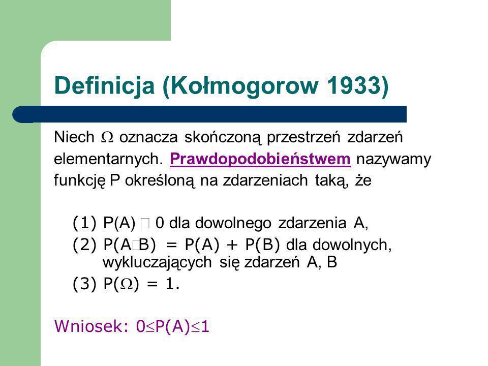 Definicja (Kołmogorow 1933)