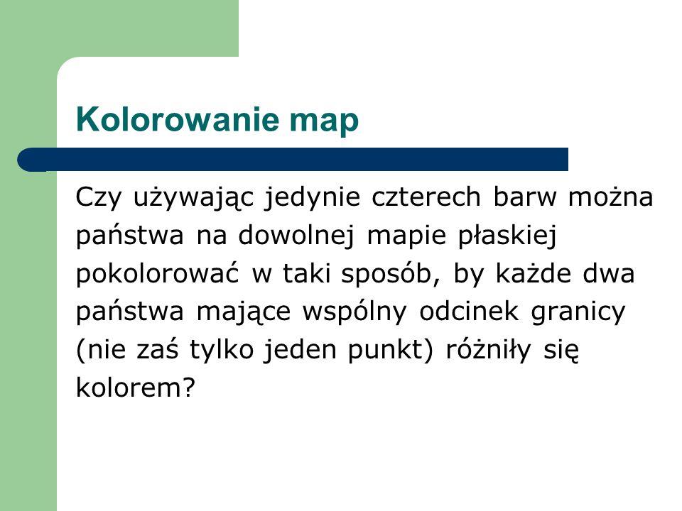 Kolorowanie map Czy używając jedynie czterech barw można