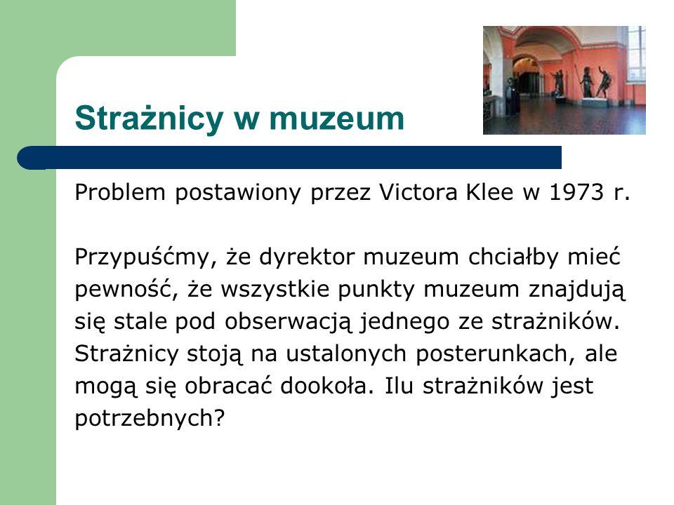 Strażnicy w muzeum Problem postawiony przez Victora Klee w 1973 r.
