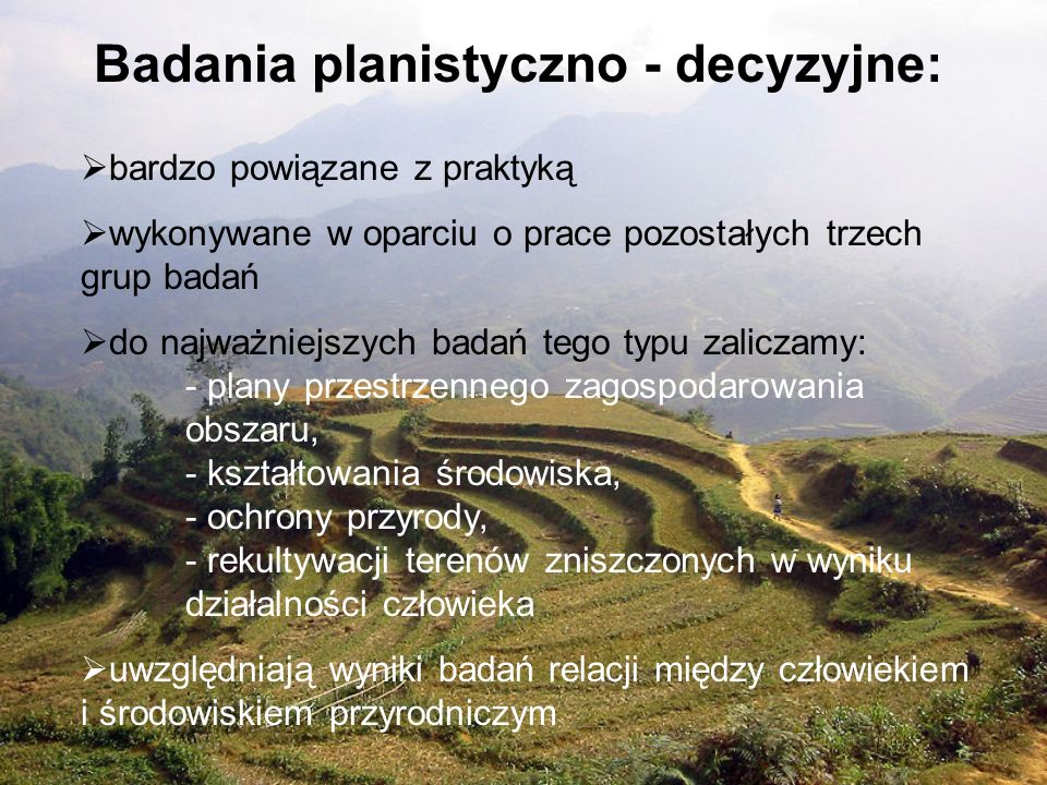 Badania planistyczno - decyzyjne: