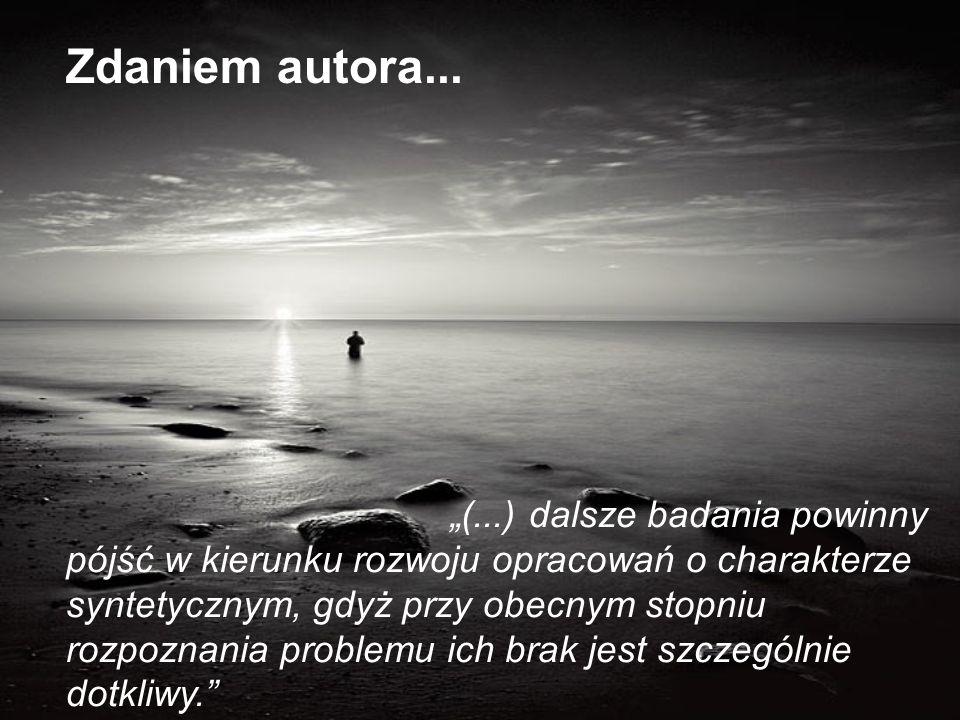 Zdaniem autora...
