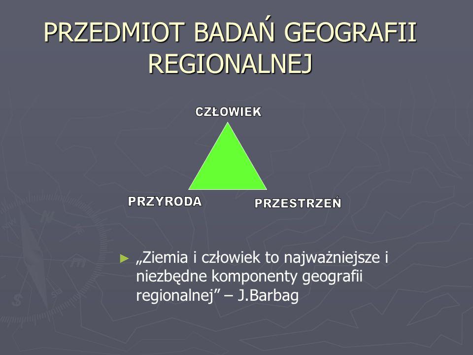 PRZEDMIOT BADAŃ GEOGRAFII REGIONALNEJ