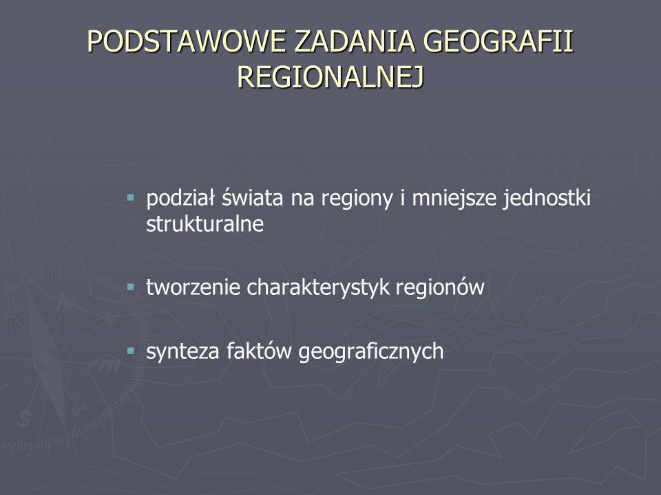 PODSTAWOWE ZADANIA GEOGRAFII REGIONALNEJ