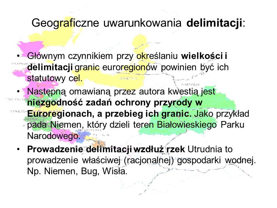 Geograficzne uwarunkowania delimitacji: