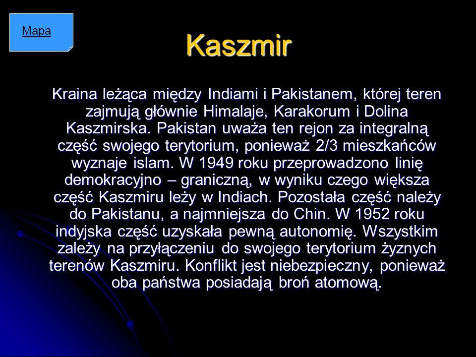 Kaszmir Mapa.