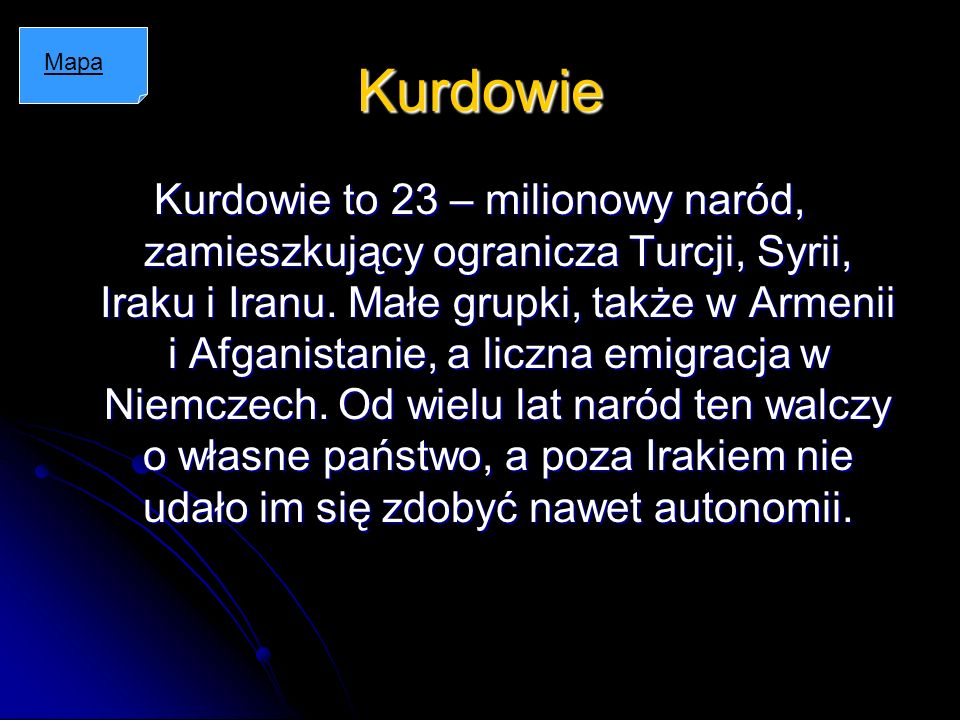 Kurdowie Mapa.