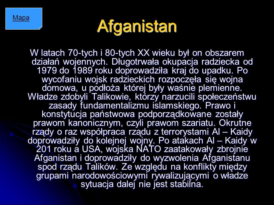 Afganistan Mapa.