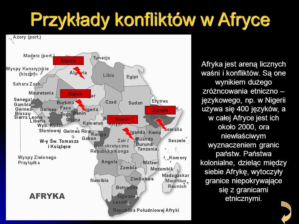 Przykłady konfliktów w Afryce