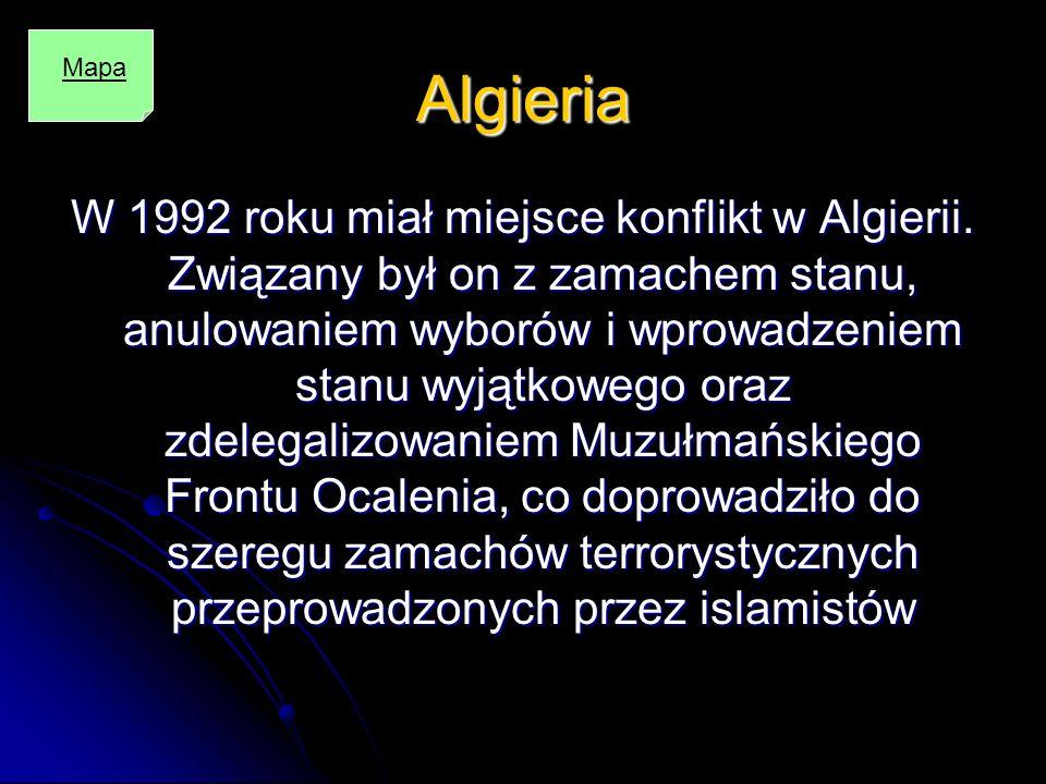 Algieria Mapa.