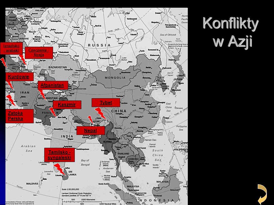 Konflikty w Azji Kurdowie Afganistan Tybet Kaszmir Zatoka Perska Nepal