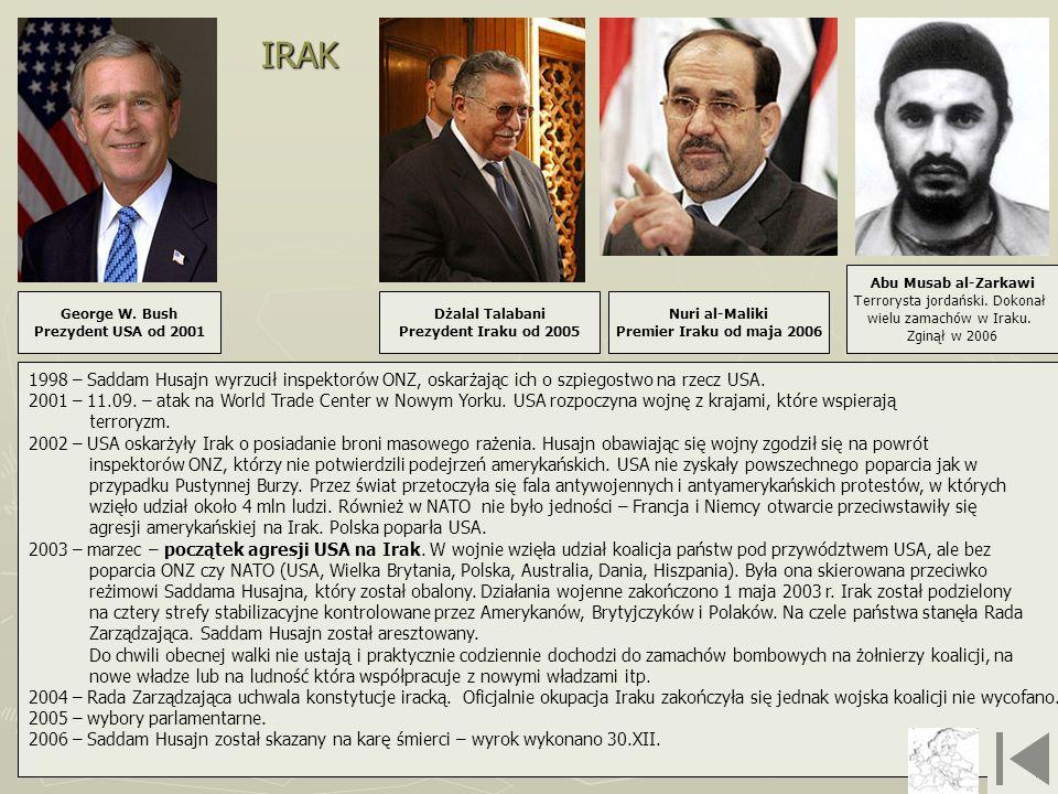 Nuri al-Maliki Premier Iraku od maja 2006