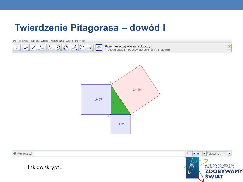 Twierdzenie Pitagorasa – dowód I