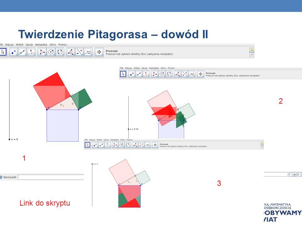 Twierdzenie Pitagorasa – dowód II
