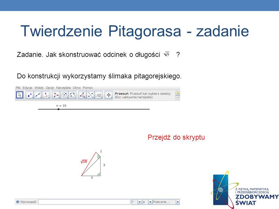 Twierdzenie Pitagorasa - zadanie