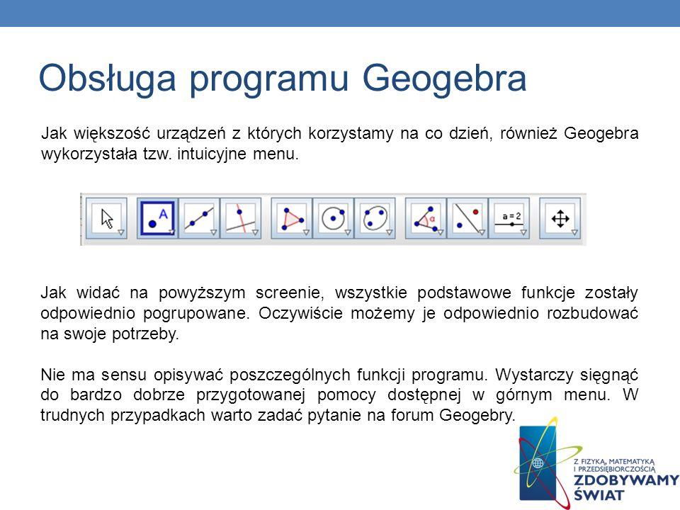 Obsługa programu Geogebra