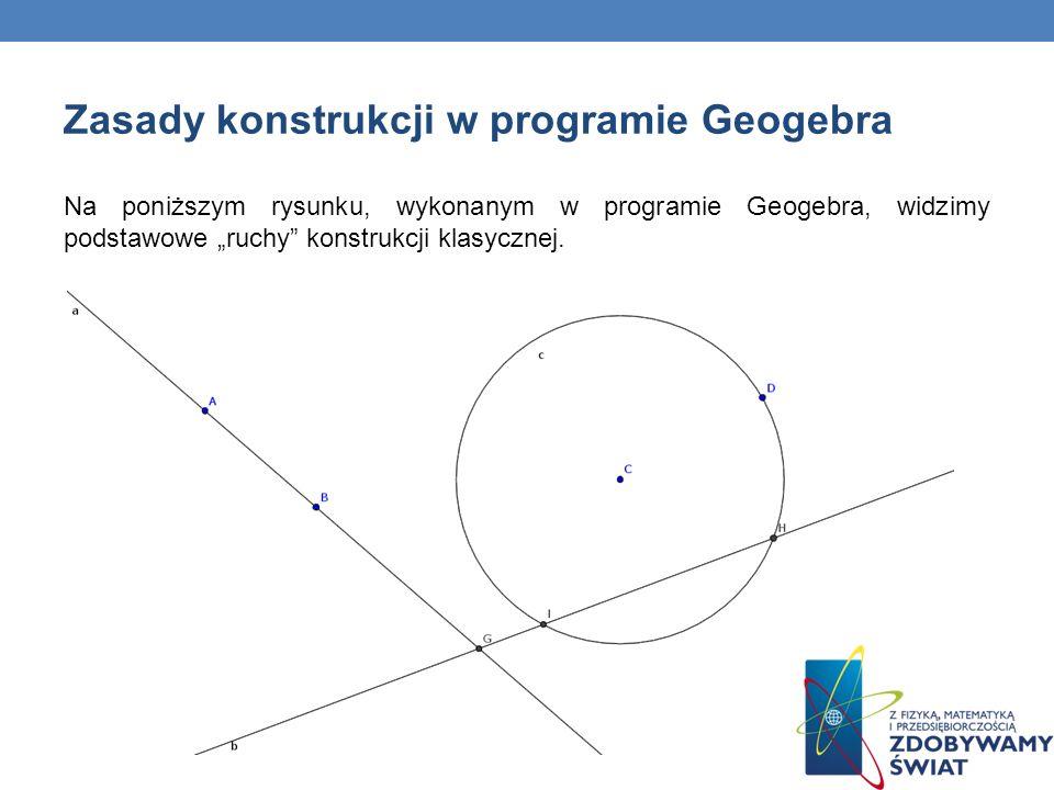 Zasady konstrukcji w programie Geogebra
