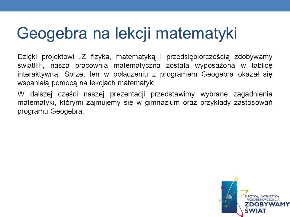 Geogebra na lekcji matematyki