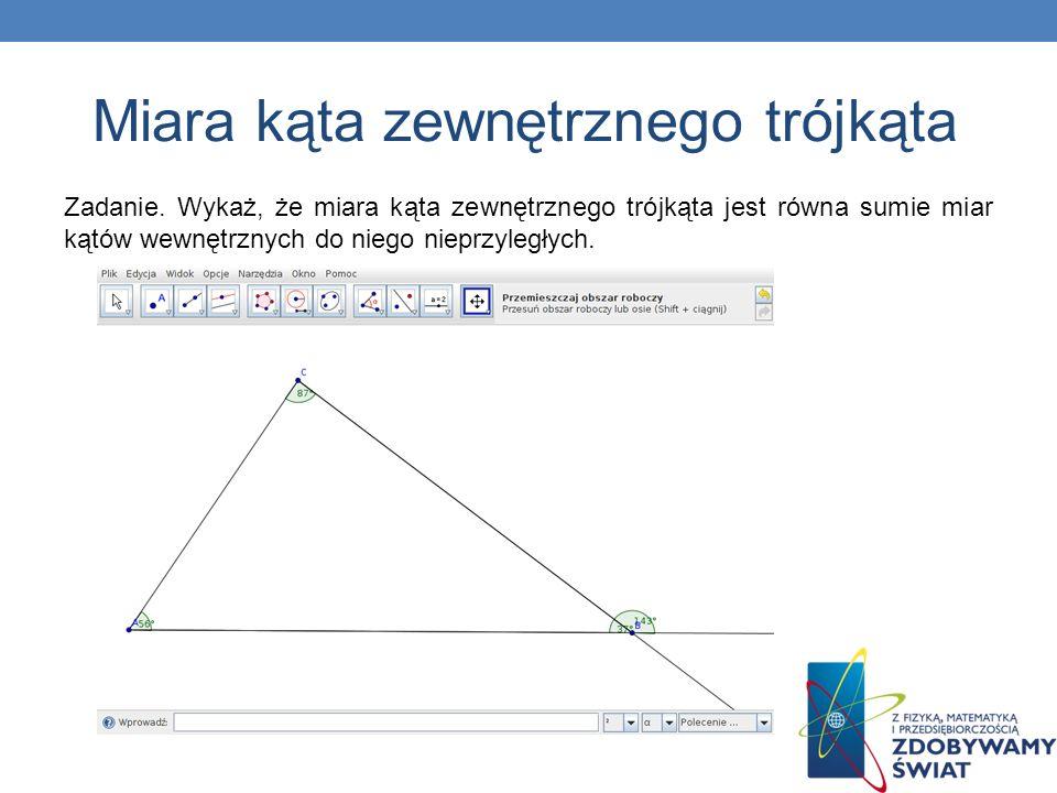 Miara kąta zewnętrznego trójkąta