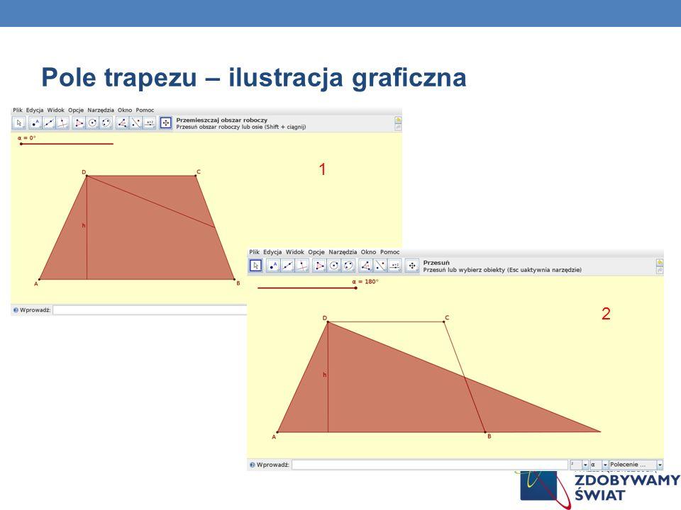 Pole trapezu – ilustracja graficzna